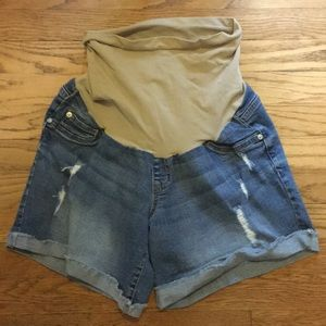 Pants - Maternity jean shorts, sz L